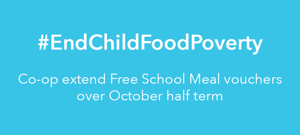 Co-op extends Free School Meals scheme over half term